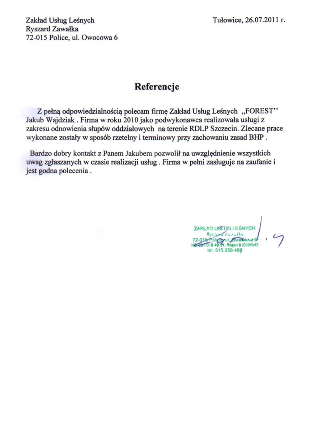 referencje zawałka odwodnienie słupów oddziałowych
