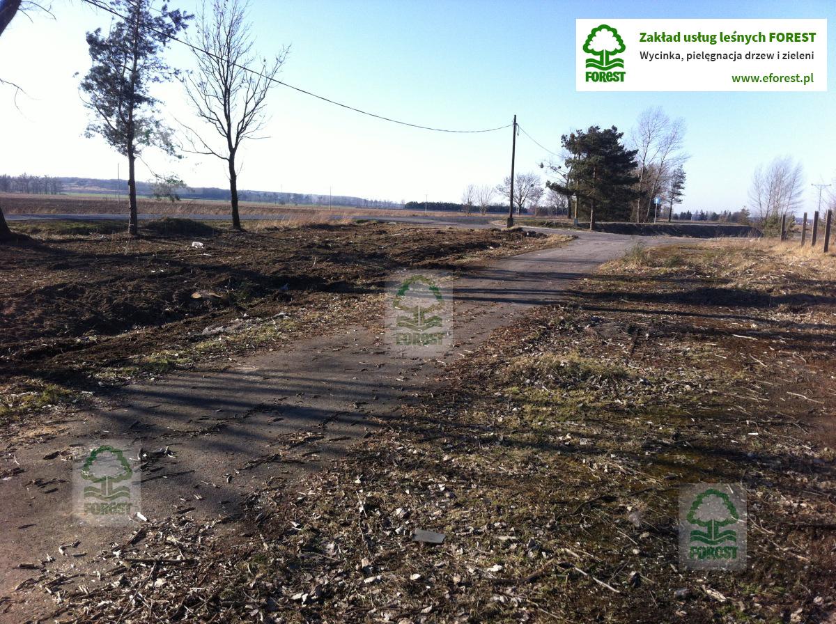 teren inwestycyjny pod farmę fotowoltaiczną przygotowany do rekultywacji
