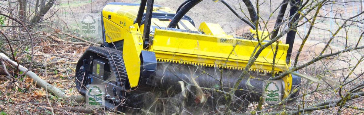 Energreen RoboMAX mulczer leśny rozdrabniający gałęzie i krzaki
